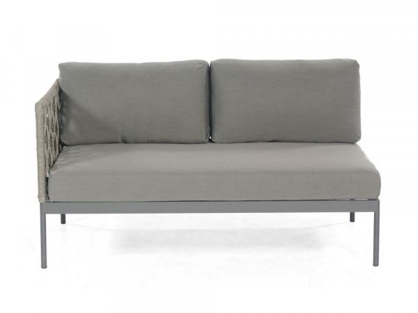 Sofaelement 2-Sitzer Eckmodul, grau, Serie Valetta