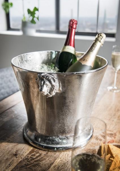 Champagner-/Weinkühler mit Löwenkopf-Griffen